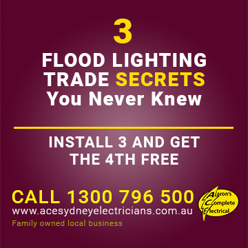 The Flood Lighting Trade Secrets, Revealed | Hunters Hill Electrician